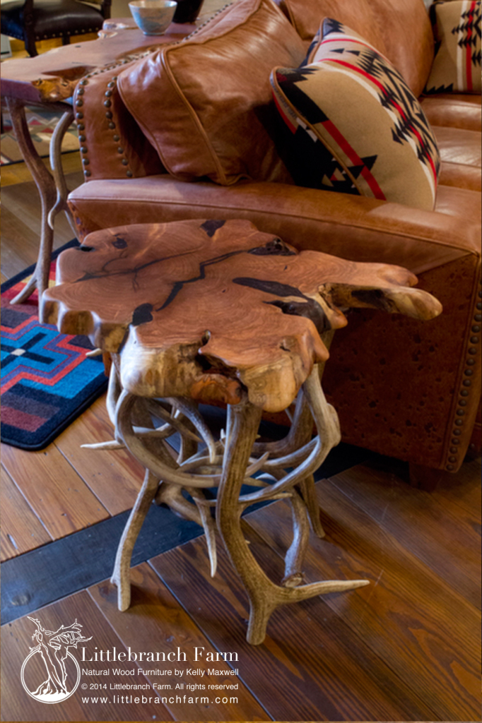 End table mesquite mule deer elk large | Littlebranch Farm