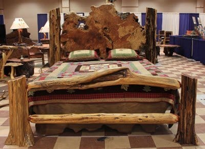 burl wood slab beds