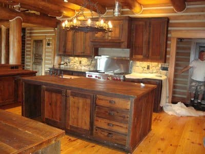 barnwoodcabnet,Rustic Kitchen Cabinets,Kitchen ideas